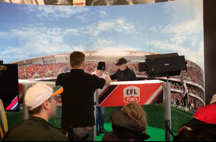 football 180 degree photo booth for TSN